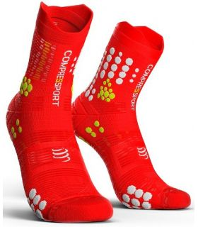 Calcetines Trail Running Compressport Pro Racing Socks V3.0 Rojo