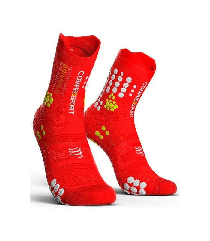 Calcetines Trail Running Compressport Pro Racing Socks V3.0 Rojo