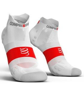 Calcetines Running Compressport Pro Racing Socks V3.0 Ultralight Blanco