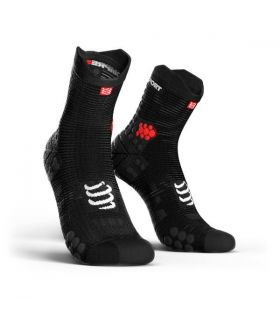 Calcetines running Compressport Run High V3 Negro