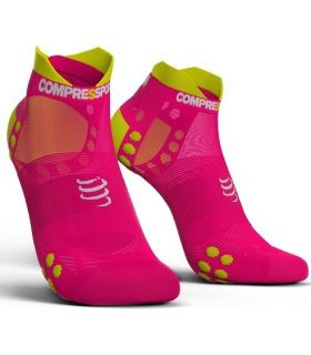 Calcetines Running Compressport Pro Racing Socks V3.0 Ultralight Rosa. Oferta y Comprar online