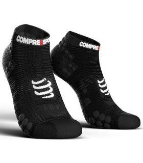 Calcetines Running Compressport Pro Racing Socks V3.0 Low Negro