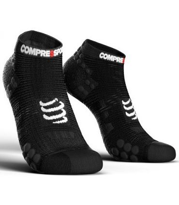 Calcetines Running Compressport Pro Racing Socks V3.0 Low Negro