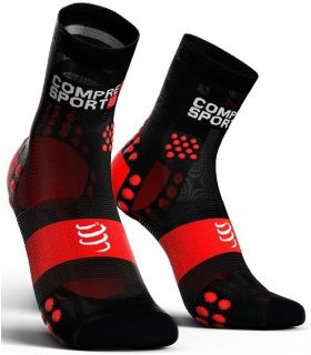 Calcetines Running Compressport Pro Racing Socks V3.0 Ultralight High Negro