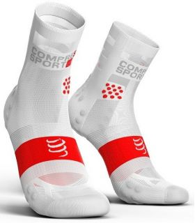 Calcetines Running Compressport Pro Racing Socks V3.0 Ultralight High Blanco