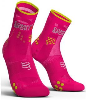 Calcetines Running Compressport Pro Racing Socks V3.0 Ultralight High Rosa. Oferta y Comprar online