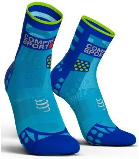 Calcetines Running Compressport Pro Racing Socks V3.0 Ultralight High Azul