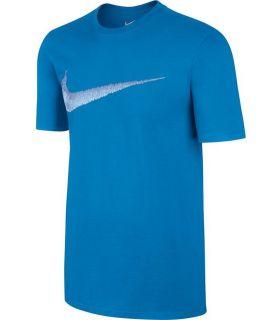 Camiseta Nike Tee Hangtag Swoosh Hombre Azul