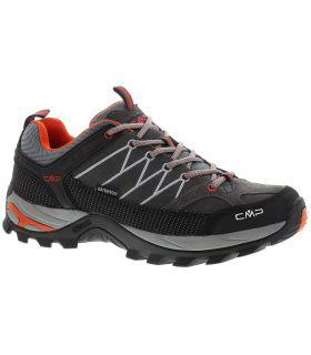 Zapatillas de trekking CMP Rigel Low Wp Hombre Negro Naranja