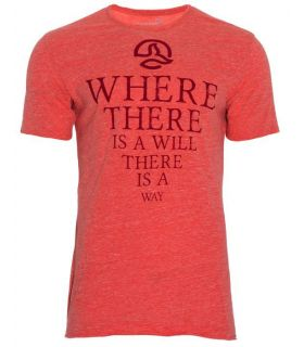 Camiseta Ternua Anfor Hombre Naranja Rojo