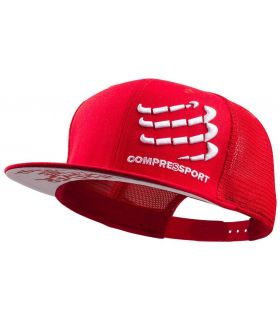 Gorra Compressport Trucker Rojo
