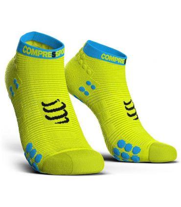 Calcetines Running Compressport Pro Racing Socks V3.0 Low Amarillo