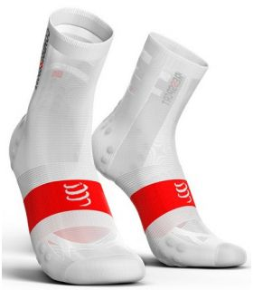 Calcetines Ciclismo Compressport Racing Socks V3.0 Ultralight Blanco