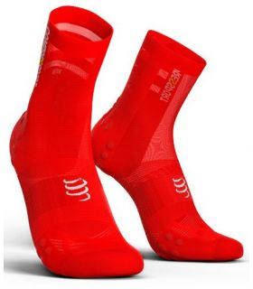 Calcetines Ciclismo Compressport Racing Socks V3.0 Ultralight Rojo