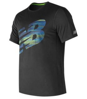 Camiseta Técnica New Balance Accelerate SS Graphic Hombre Negro