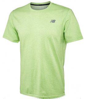 Camiseta New Balance Heather Tech Short Sleeve Hombre Verde