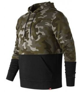 Sudadera New Balance Essentials Pullover Hoodie Hombre Verde