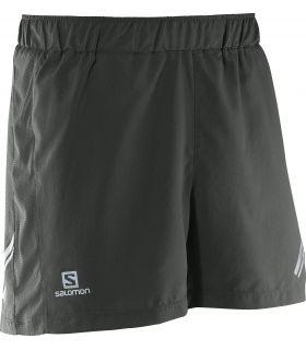 Pantalones running Salomon Agile Short Hombre Gris
