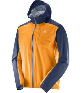 Chaqueta trail running Salomon Bonatti Wp Hombre Azul Naranja. Oferta y Comprar online