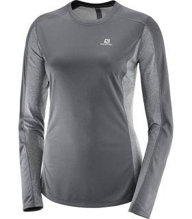 Camiseta Running Salomon Agile LS Tee Mujer Negro
