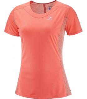 Camiseta running Salomon Agile SS Tee Mujer Coral. Oferta y Comprar online
