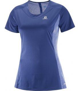 Camiseta running Salomon Agile SS Tee Mujer Violeta. Oferta y Comprar online