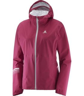 Chaqueta trail running Salomon Lightning Wp Mujer Remolacha