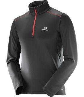 Camiseta trail running Salomon Agile Warm HZ Mid Hombre Negro