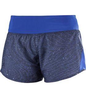 Pantalones running Salomon Elevate 2in1 Mujer Azul
