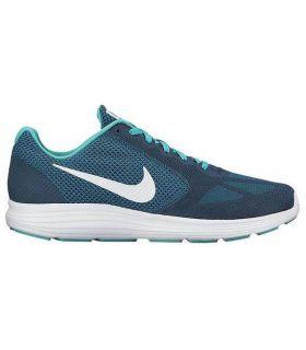 Zapatillas Running Nike Revolution 3 Hombre Azul Blanco