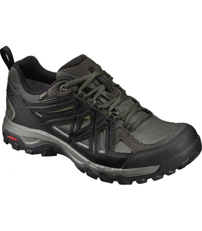 Compra online Zapatillas de montaña Salomon Evasion 2 GTX Hombre Gris Verde en oferta al mejor precio