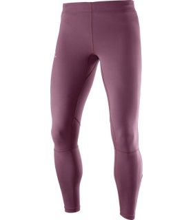 Mallas running Salomon Agile Long Tight Mujer Burdeos