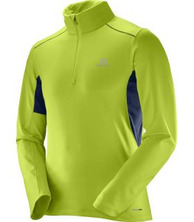 Camiseta trail running Salomon Agile Warm HZ Mid Hombre Lima