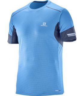 Camiseta running Salomon Agile SS Hombre Azul. Oferta y Comprar online