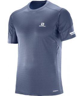 Camiseta running Salomon Agile SS Hombre Azul oscuro