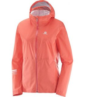 Chaqueta trail running Salomon Lightning Wp Mujer Coral