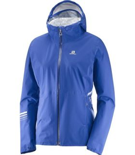 Chaqueta trail running Salomon Lightning Wp Mujer Azul Morado