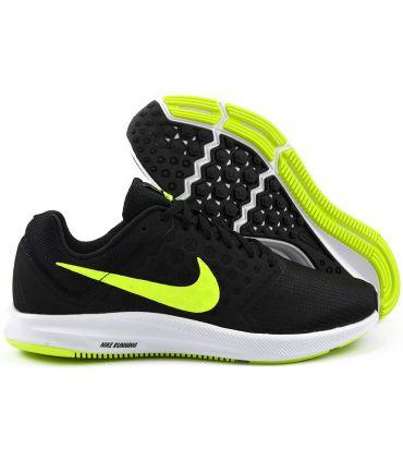 Zapatillas Running Nike Downshifter 7 Hombre Negro Verde