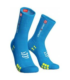 Calcetines Ciclismo Compressport Racing Socks V3.0 Azul