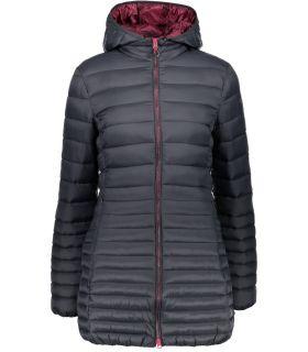 Abrigo de Fibra Campagnolo Zip Hood Coat Mujer Antracita