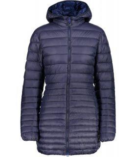 Abrigo de Fibra Campagnolo Zip Hood Coat Mujer Navy