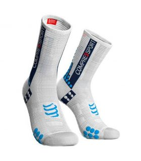 Calcetines Ciclismo Compressport Racing Socks V3.0 Blanco. Oferta y Comprar online