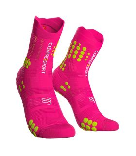 Calcetines Trail Running Compressport Pro Racing Socks V3.0 Rosa Fluor