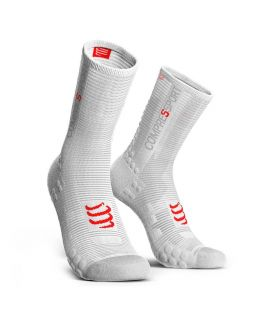 Calcetines Ciclismo Compressport Racing Socks V3.0 Blanco