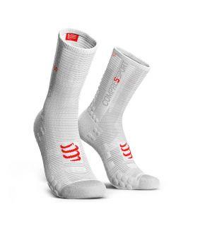 Calcetines Ciclismo Compressport Racing Socks V3.0 Blanco. Oferta y Comprar online