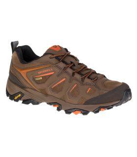 Zapatillas de Montaña Merrell Moab Fst Leather GoreTex Hombre Tierra Oscura