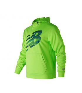 Sudadera New Balance Game Changer Logo Hombre Verde. Oferta y Comprar online