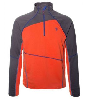 Camiseta Montaña Ternua Laguut 1/2 Zip Hombre Naranja