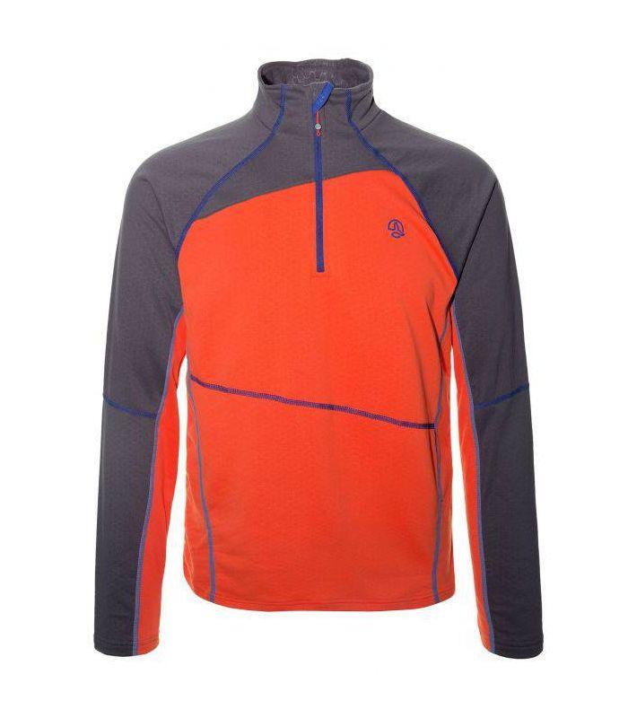 Compra online Camiseta Montaña Ternua Laguut 1/2 Zip Hombre Naranja en oferta al mejor precio