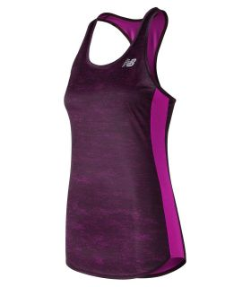 Camiseta running New Balance Accelerate Tirantes Printed Mujer Morado